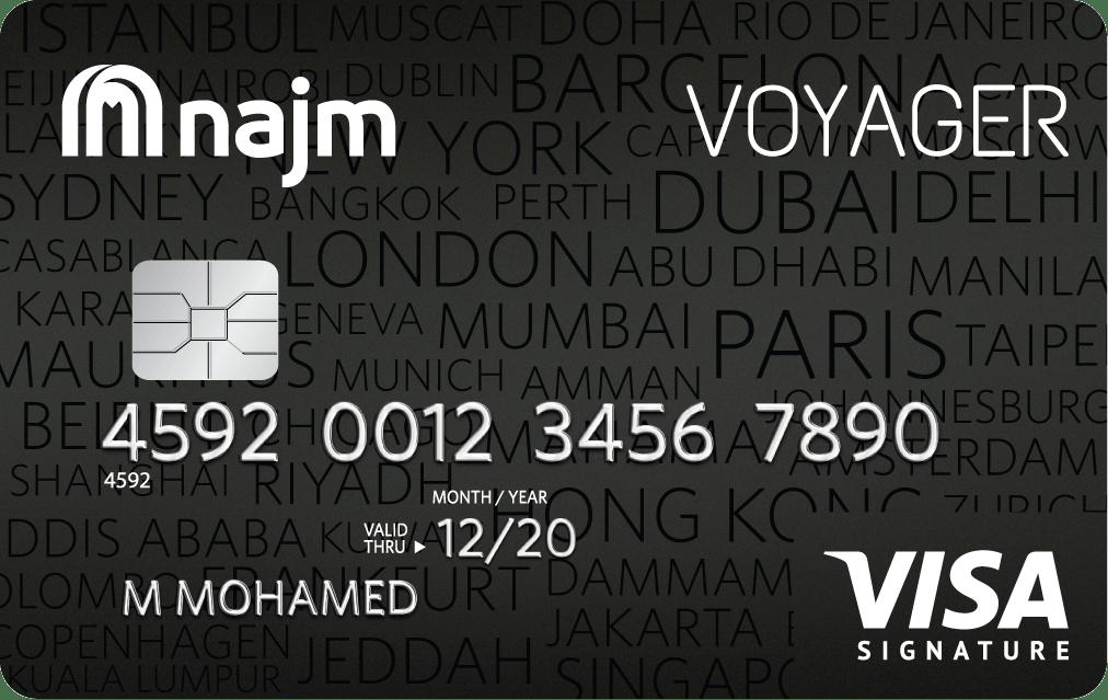 Najm Voyager Signature Credit Card | Najm Credit Cards
