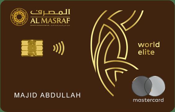 Al Masraf World Elite Mastercard | Al Masraf Credit Cards
