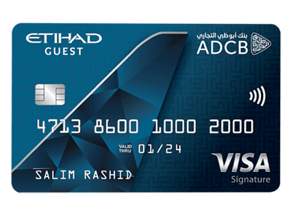 ADCB Etihad Guest Signature Credit Card | Abu Dhabi Commercial Bank (ADCB) Credit Cards